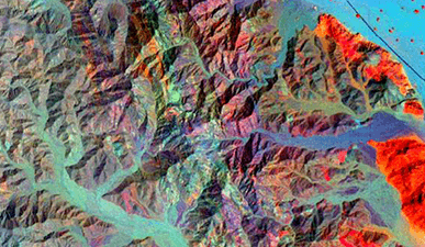 Mining and geology - Processing of satellite images for the mining exploitation