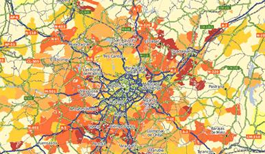Geomarketing - Mapa de áreas de influencia