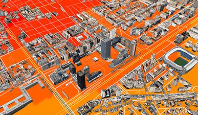 Geomarketing - Simulación 3D zona de influencia